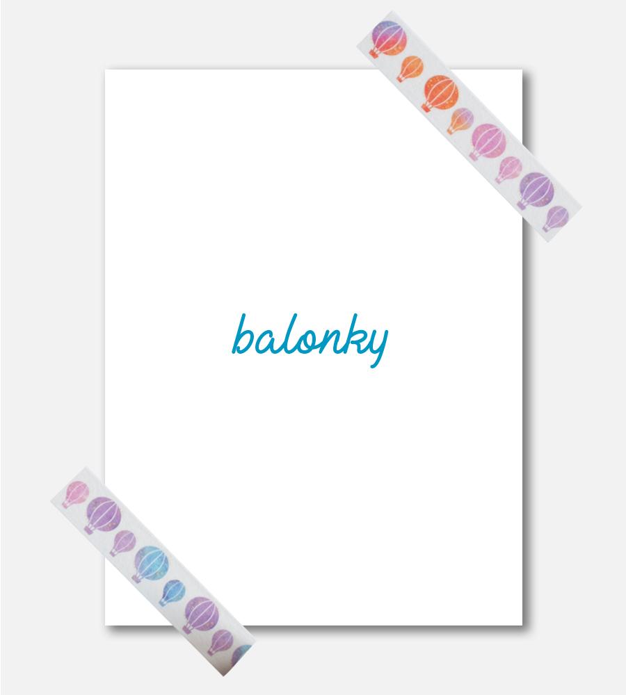 Washi páska Balonky
