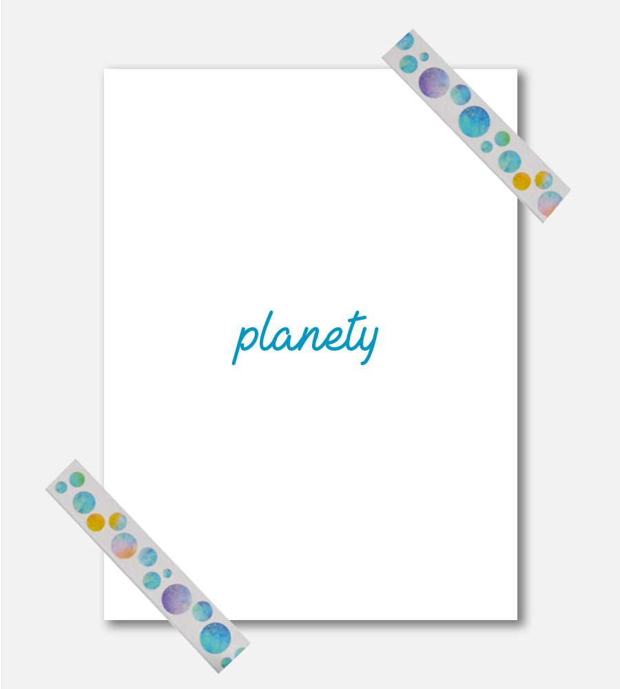 Washi páska Planety